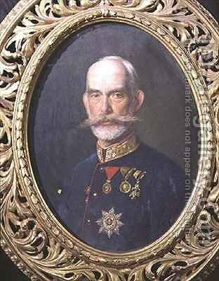 Portrait of Lt. Field Marshal Archduke Rainer of Austria (1827-1913) cousin of the Emperor Franz Joseph by Theodor Breidwiser or Breitwieser - Reproduction Oil Painting