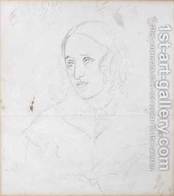 Portrait of George Eliot (Mary Ann Evans) by Caroline Bray - Reproduction Oil Painting