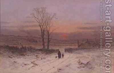 A Winter's Eve by Charles Brooke Branwhite - Reproduction Oil Painting