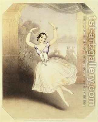 Carlotta Grisi (1819-99) in the Ballet of the Peri by (after) Brandard, John - Reproduction Oil Painting