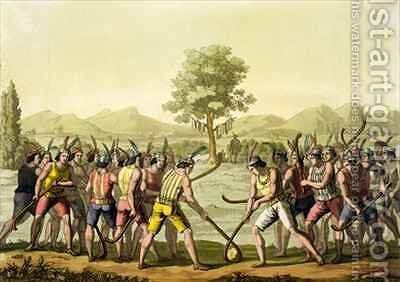Indians playing Ciueca, Chile by (after) Bramati, G. - Reproduction Oil Painting