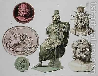 Representations of Zeus, Jupiter or Jove by (after) Bramati, G. - Reproduction Oil Painting