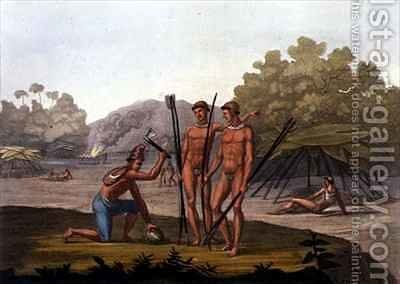 Patacho Tribesmen by Bramati - Reproduction Oil Painting