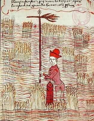 Surveyor in a field by Bertrand Boysset - Reproduction Oil Painting