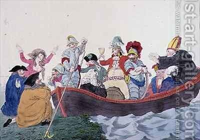 Non Commission Officers embarking for Botany Bay by (after) Boyne, John - Reproduction Oil Painting