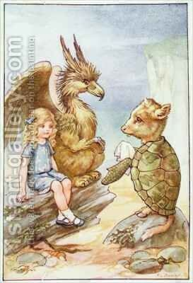 The Mock Turtle's Story by A.L. Bowley - Reproduction Oil Painting