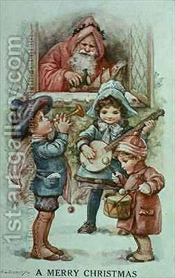 Christmas Carols by A.L. Bowley - Reproduction Oil Painting