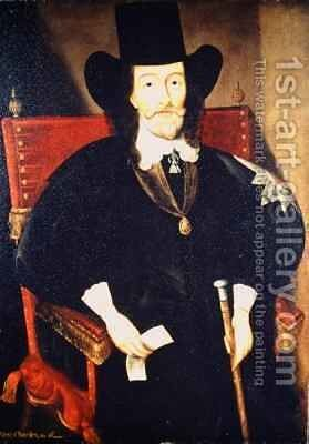 Portrait of King Charles I (1625-49) at his Trial by (after) Edward Bower - Reproduction Oil Painting