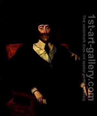 Portrait of King Charles I (1625-49) at his Trial 2 by (after) Edward Bower - Reproduction Oil Painting
