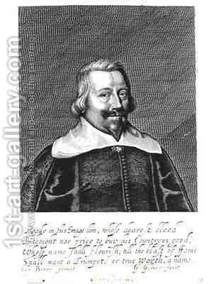 Portrait of John Pym (c.1584-1643) by (after) Edward Bower - Reproduction Oil Painting