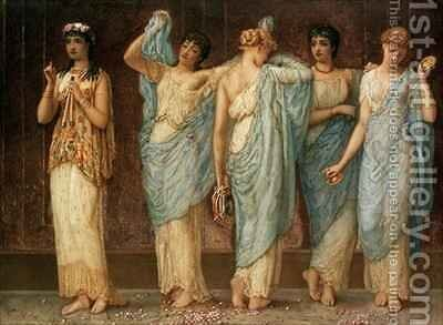 Ready for the Dance by Augustus Jules Bouvier - Reproduction Oil Painting
