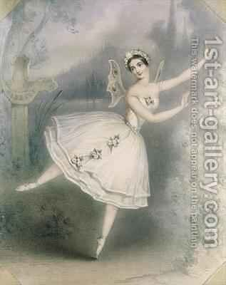 Carlotta Grisi (1819-99) as Giselle, Paris by Augustus Jules Bouvier - Reproduction Oil Painting