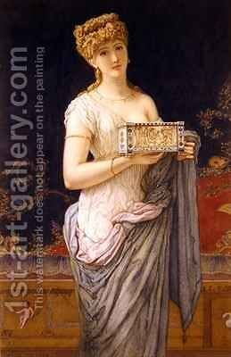 Pompeian Girl by Augustus Jules Bouvier - Reproduction Oil Painting