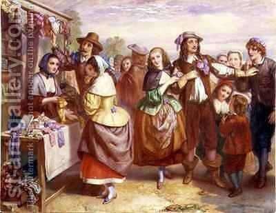 The Outdoor Haberdashery by Augustus Jules Bouvier - Reproduction Oil Painting