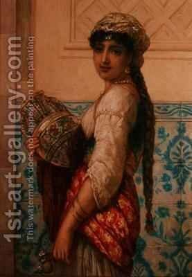 The Water Carrier by Augustus Jules Bouvier - Reproduction Oil Painting