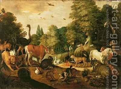 Garden of Eden 2 by Jacob Bouttats - Reproduction Oil Painting