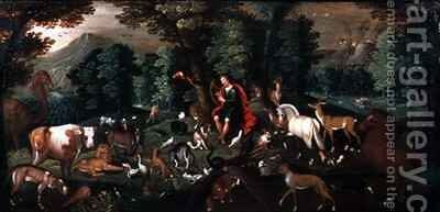 Orpheus and the Animals by Jacob Bouttats - Reproduction Oil Painting
