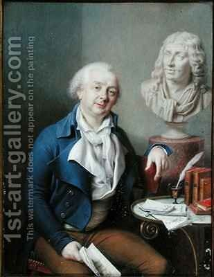 Portrait of Dazincourt (1747-1809) by Charles-Marie Bouton - Reproduction Oil Painting