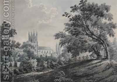 Croydon Church from Duppas Hill Terrace by James Bourne - Reproduction Oil Painting