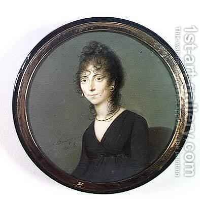 Marie-Laetitia Ramolino (1750-1836) by Charles Guillaume Alexandre Bourgeois - Reproduction Oil Painting