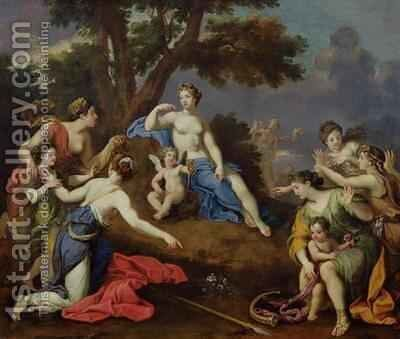 Venus Creating the Anemone with the Blood of Adonis by Bon de Boulogne - Reproduction Oil Painting