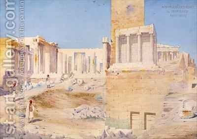 The Acropolis at Athens by Gustave Bougerel - Reproduction Oil Painting