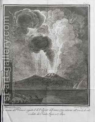 The eruption of Mount Vesuvius in 1774 by (after) Bottis, Gaetano de - Reproduction Oil Painting