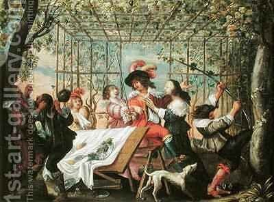 Autumn 2 by Abraham Bosse - Reproduction Oil Painting