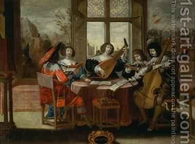 The Five Senses - Hearing by (after) Bosse, Abraham - Reproduction Oil Painting