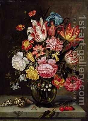 Still Life of Flowers in an Ovoid Vase by Abraham Bosschaert - Reproduction Oil Painting