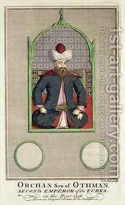 Orkhan son of Osman, Second Emperor of the Turks in the year 1326 by Claude du Bose - Reproduction Oil Painting