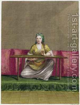 Turkish Girl by Claude du Bose - Reproduction Oil Painting