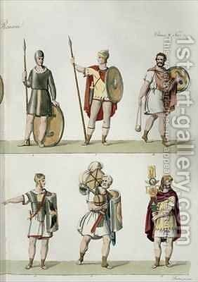 Roman Soldiers by (after) Bosa, Eugenio - Reproduction Oil Painting
