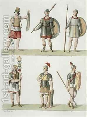 Roman Soldiers 2 by (after) Bosa, Eugenio - Reproduction Oil Painting