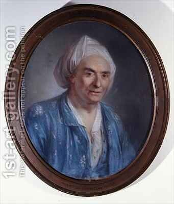 Portrait of Denis Diderot (1713-84) by Claude Bornet - Reproduction Oil Painting