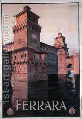 Poster advertising Ferrara by Mario Borgoni - Reproduction Oil Painting