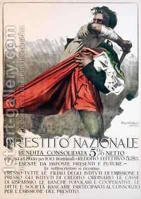'Prestito Nazionale', poster for the National Loan by Mario Borgoni - Reproduction Oil Painting
