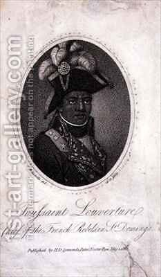 Toussaint Louverture (c.1743-1803) Chief of the French Rebels in St. Domingo by (after) Bonneville, Francois - Reproduction Oil Painting