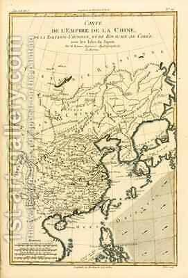 The Chinese Empire, Chinese Tartary and the Kingdom of Korea, with the Islands of Japan by Charles Marie Rigobert Bonne - Reproduction Oil Painting