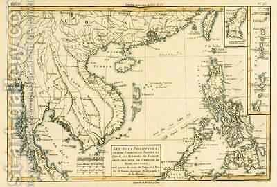 The Philippines, Formosa, South China, the Kingdoms of Tonkin, Cochin China, Cambodia, Siam, Laos, and part of those of Pegu and Ava by Charles Marie Rigobert Bonne - Reproduction Oil Painting