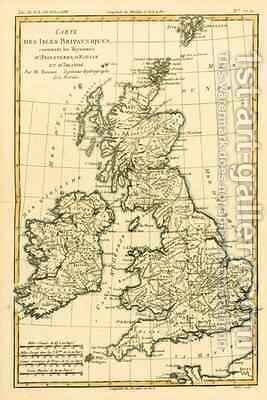 The British Isles, Including the Kingdoms of England, Scotland and Ireland by Charles Marie Rigobert Bonne - Reproduction Oil Painting