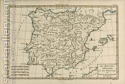 Spain and Portugal by Charles Marie Rigobert Bonne - Reproduction Oil Painting