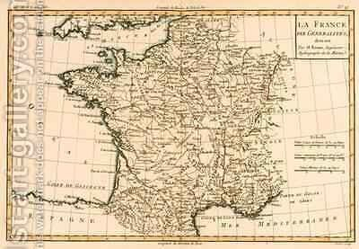 France by Regions by Charles Marie Rigobert Bonne - Reproduction Oil Painting