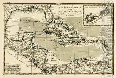 The Antilles and the Gulf of Mexico by Charles Marie Rigobert Bonne - Reproduction Oil Painting