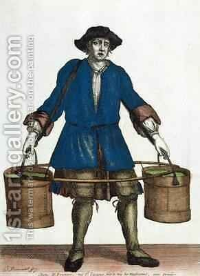 The Water Carrier by Jean Baptiste Bonnart - Reproduction Oil Painting