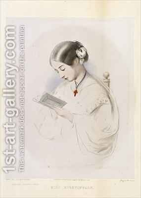 Florence Nightingale by (after) Bonham-Carter, Hilary - Reproduction Oil Painting