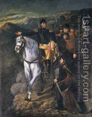 General San Martin after crossing the Andes in 1817 by Martin Boneo - Reproduction Oil Painting