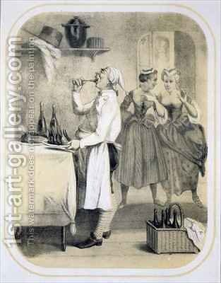 Gluttony in the Kitchen by (after) Louis Leopold Boilly - Reproduction Oil Painting