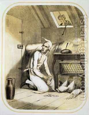 Avarice in the Kitchen by (after) Louis Leopold Boilly - Reproduction Oil Painting