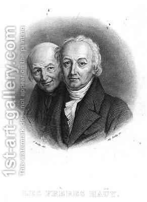 The Hauy Brothers: Rene-Just (1743-1822) and Valentin Hauy (1745-1822) by (after) Boilly, Julien Leopold - Reproduction Oil Painting